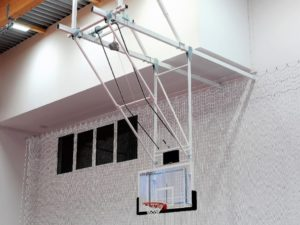 Konstrukcja do koszykówki podstropowa z napędem elektrycznym typ H
