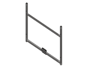 Support frame for 180x105 cm mdf backboard