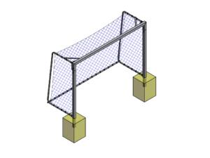 3x2 m Mini football / futsal fixed goalpost (80x80mm)