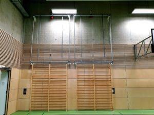 Hoistable wall bars