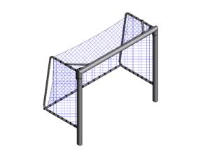 3x2 m Mini football / futsal fixed goalpost (120x100 mm)