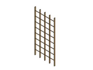 Climbing frame rollable (4 rows)