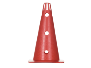 Plastic cones 37 cm z with holes