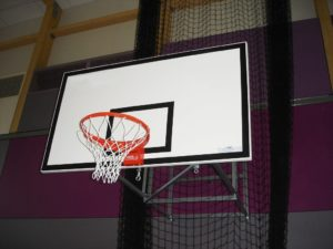 180x105 cm GRP backboard on a support frame (indoor)