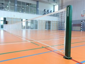 Słupki do tenisa PRO 80x80 mm (aluminiowe)