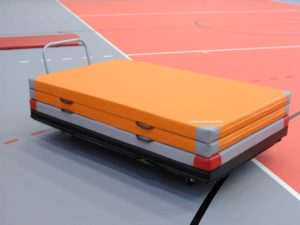 Mat transport trolley (horizontal, flatbed)