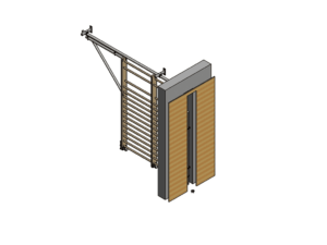 Horizontally retractable wall bars