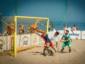 5,5x2,2 m aluminium beach soccer goal