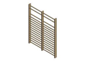 Double wall bars (200 cm), height: 260 cm