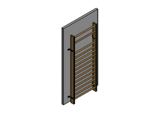 Permanently fixed single wall bars (100 cm), height: 260 cm with installation accessories