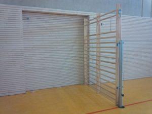 Pivoting wall bar