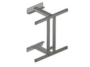 Fixed backboard support structure 300 mm
