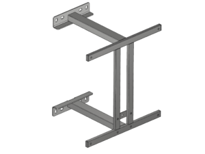 Fixed backboard support structure 500 mm