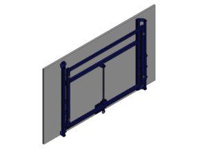 180x105 cm MDF basketball backboard with height adj. mechanism (manual)