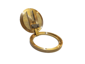 Brass ring 161 mm with hinged cover