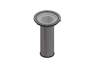 Socket for 100 mm profile, indoor, for non-suspended floors