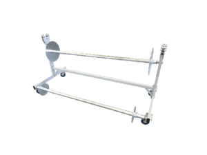 PVC mats floor protection rolling trolley