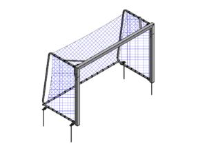 3x2 m Mini football / futsal portable goalpost (80x80 mm)