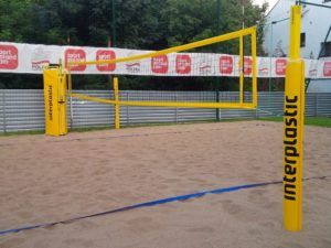 80x80 mm aluminium beach volleyball uprights