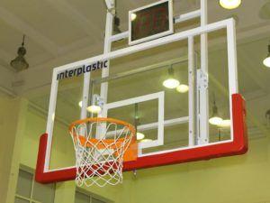 Tablica do koszykówki 180x105 cm ze szkła hartowanego na ramie stalowej