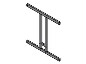 Support frame for 120x90 cm mdf backboard