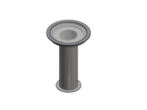 Ground socket for 82,5 mm upright (for non-suspended floors)