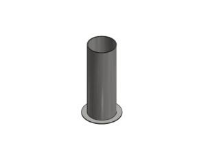 Ground socket for 82,5 mm upright (for suspended floors)