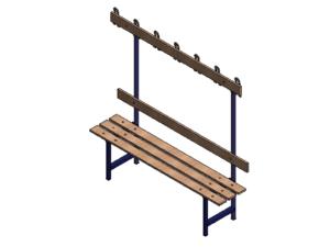 Locker room bench type B length: 1,5