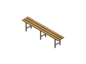 Locker room bench type A