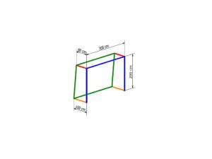 Net for 3x2 m goal PP 4 mm (depth 0,8/1 m)
