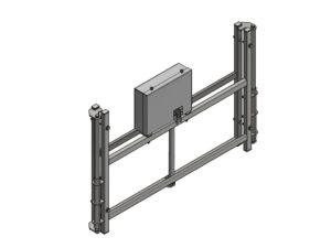 Height adjustment mechanism, electrical, for 180x105 cm glass/acrylic/GRP backboards