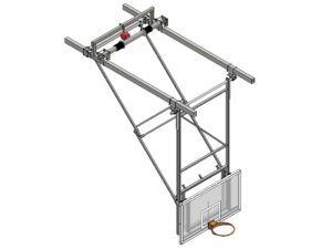 Profesjonalna konstrukcja podstropowa do zawieszania tablic do koszykówki (typ H-FIBA)