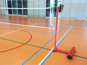 Portable badminton stands PRO (~60 kg each)