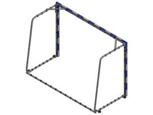 2,4x1,6 m mini handball goal basic