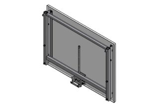 120x90 cm GRP backboard with a height adjustment mechanism (outdoor)