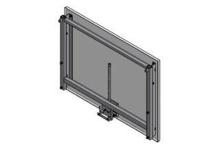 Tablica do koszykówki laminowana 120x90 cm z mechanizmem reg.