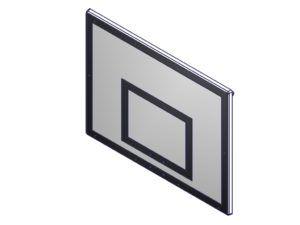 Tablica do koszykówki laminowana 120x90 cm na ramie cynkowanej
