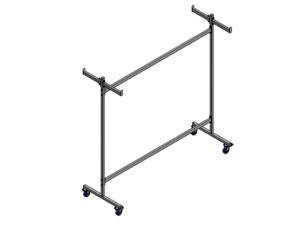 Transport trolley for 4 handball goals